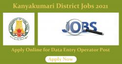 Kanyakumari District Jobs 2021 Apply Online for Data Entry Operator Post