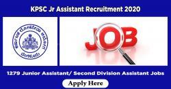 KPSC Jr Assistant Recruitment 2020 | 1279 Junior Assistant/ Second Division Assistant Jobs