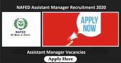 NAFED Assistant Manager Recruitment 2020 | Assistant Manager Vacancies @ www.nafed-india.com