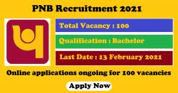 PNB Recruitment 2021 Online Applications ongoing for 100 Manager Security Vacancies