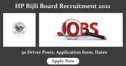 HP Bijli Board Recruitment 2021 - Driver Post, Application form, Dates