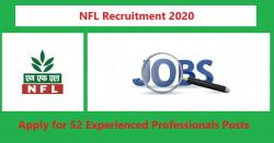 NFL Recruitment 2020 | Apply for 52 Experienced Professionals Posts