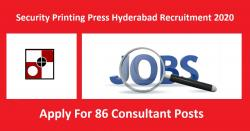 Security Printing Press Hyderabad Recruitment 2020 For 86 Consultant Posts