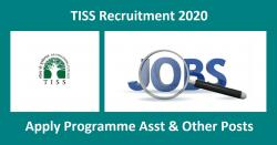 TISS Recruitment 2020 Apply Programme Asst & Other Posts