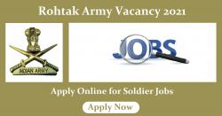 Rohtak Army Vacancy 2021 Apply Online for Soldier Jobs