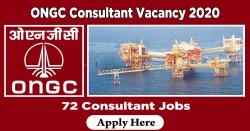 ONGC Consultant Vacancy 2020 | Apply 72 Consultant Jobs