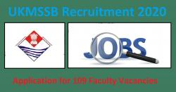 UKMSSB Recruitment 2020 Application for 109 Faculty Vacancies