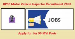 BPSC Motor Vehicle Inspector Recruitment 2020 for 90 MVI Posts
