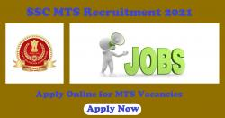 SSC MTS Recruitment 2020 Apply Online for MTS Vacancies