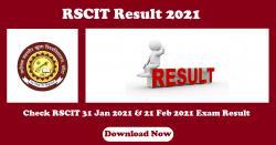RSCIT Result 2021 Check RSCIT 31 Jan 2021 & 21 Feb 2021 Exam Result