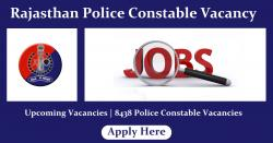 Rajasthan Police Constable Vacancy 2021 | 8438 Police Constable Posts, Upcoming Vacancy